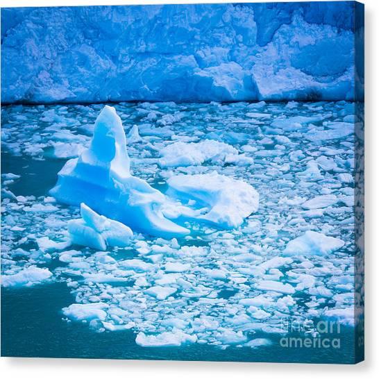 Perito Moreno Glacier Canvas Print - Perito Moreno Iceberg by Inge Johnsson