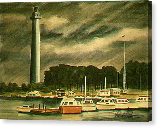 Perrys Monument On Put In Bay Canvas Print