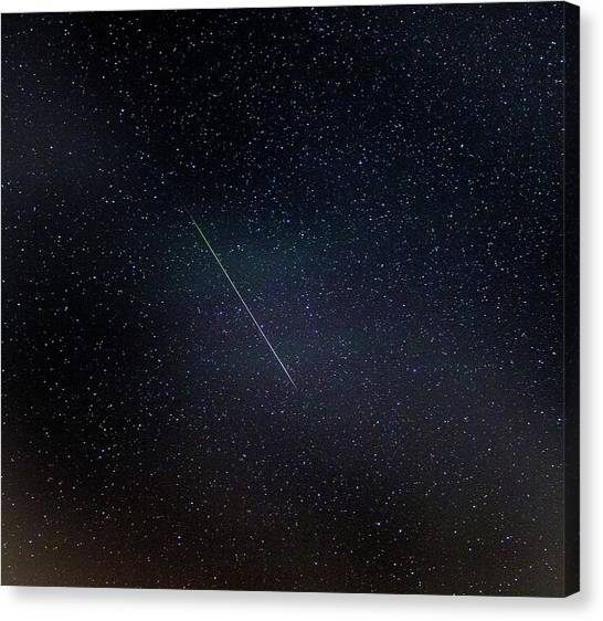 Shooting Stars Canvas Print - Perseid Meteor Trail by Chris Madeley