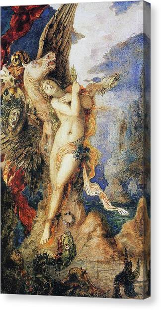 Gorgons Canvas Print - Perseus And Andromeda by Gustave Moreau