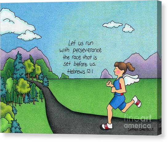 Bible Verses Canvas Print - Perseverance by Sarah Batalka