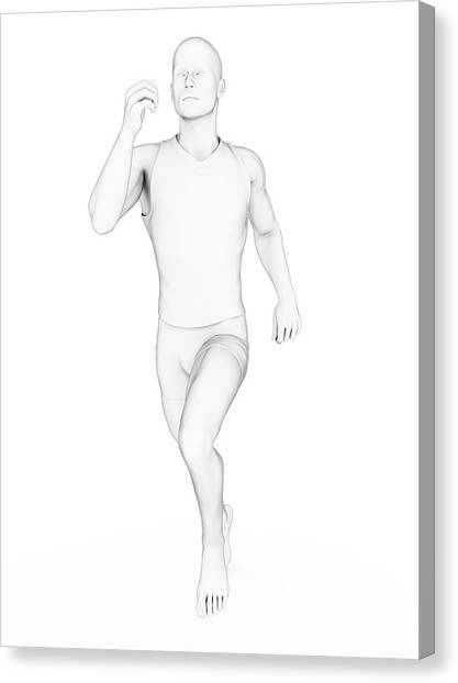 Jogger Canvas Print - Person Jogging by Sebastian Kaulitzki