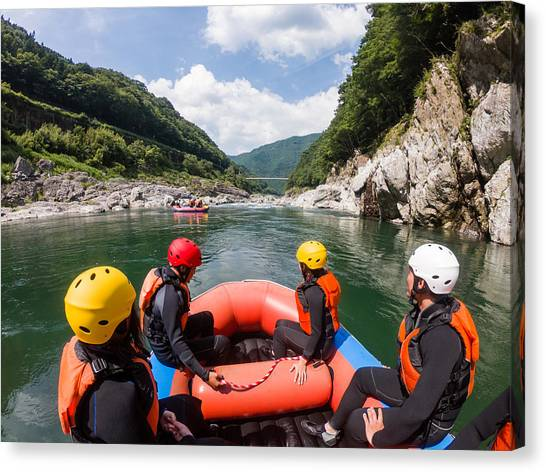 Personal Point Of View Of A White Water River Rafting Excursion Canvas Print by Tdub303