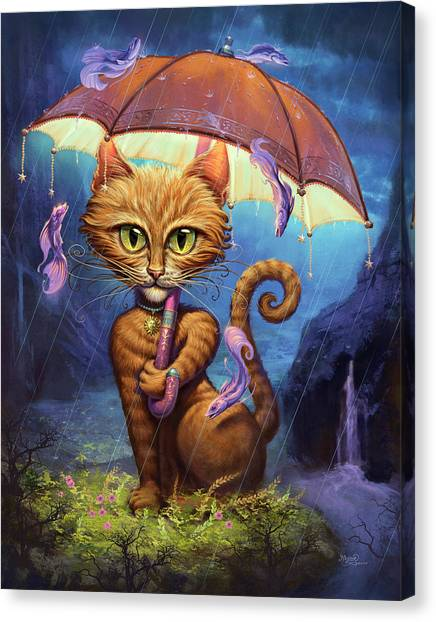 Umbrella Canvas Print - Personal Sunshine by Jeff Haynie