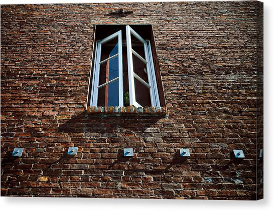 Perspective In Brick Canvas Print