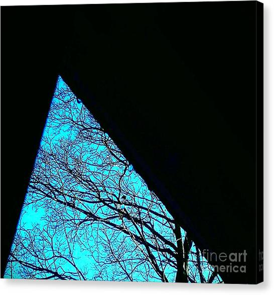 Blue Triangle Canvas Print