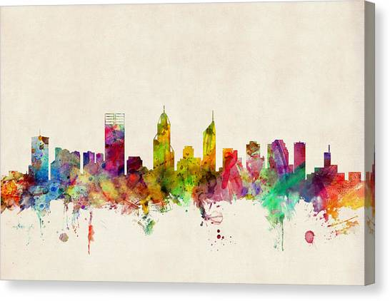 Australian Canvas Print - Perth Australia Skyline by Michael Tompsett