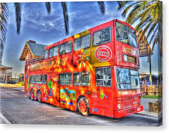 Perth Tour Bus Canvas Print