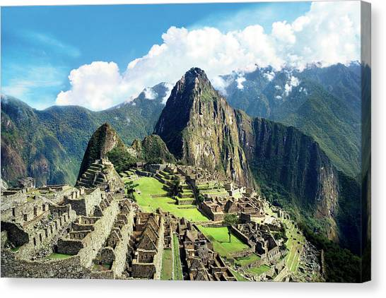Peruvian Canvas Print - Peru, Machu Picchu, The Lost City by Miva Stock