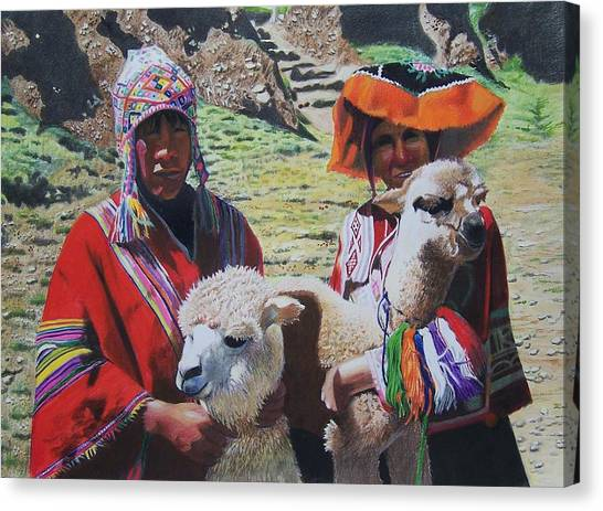 Peruvians Canvas Print