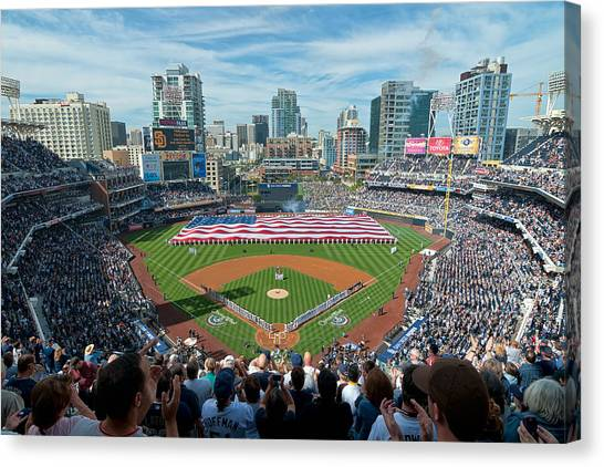 Petco Park Season Opener 2011 Canvas Print