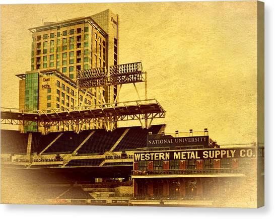 San Diego Padres Canvas Print - Petco Park- Western Metal by See My  Photos