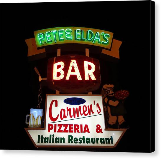 Pete And Elda's Bar Canvas Print