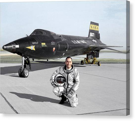 Pete Knight As X-15 Test Pilot Canvas Print by Nasa