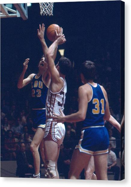 Pennsylvania State University Canvas Print - Pete Maravich In Traffic by Retro Images Archive