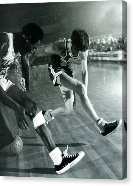 Pennsylvania State University Canvas Print - Pete Maravich Tricky Pass by Retro Images Archive