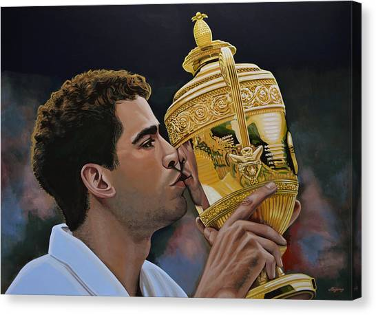 Goal Canvas Print - Pete Sampras by Paul Meijering
