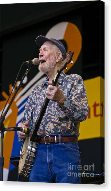 Pete Seeger Canvas Print