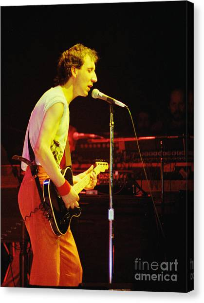 Pete Townsend Of The Who At Oakland Ca 1980 Canvas Print