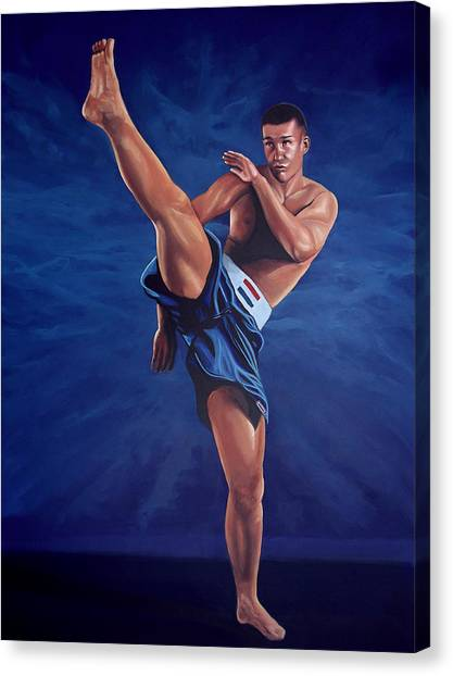 Boxing Canvas Print - Peter Aerts  by Paul Meijering