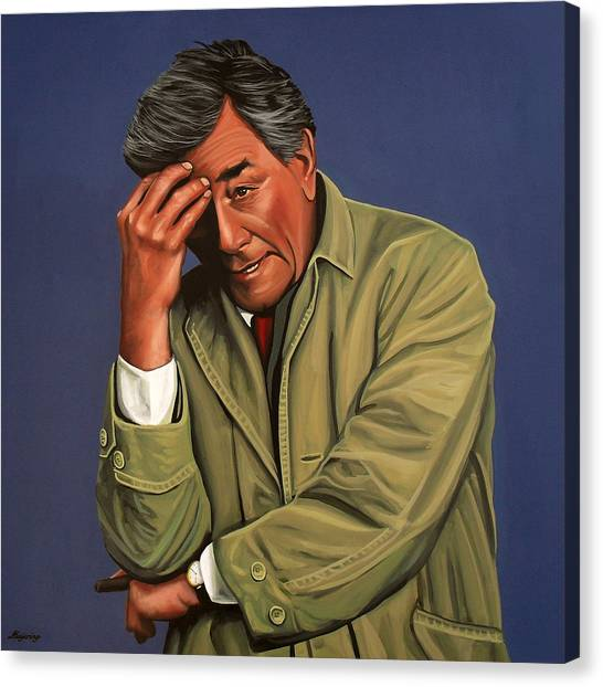 Bride Canvas Print - Peter Falk As Columbo by Paul Meijering