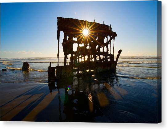 Peter Iredale Canvas Print - Peter Iredale Shipwreck, Fort Stevens by Panoramic Images