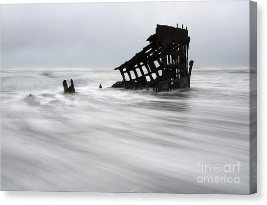 Peter Iredale Canvas Print - Peter Iredale Shipwreck Oregon 2 by Bob Christopher