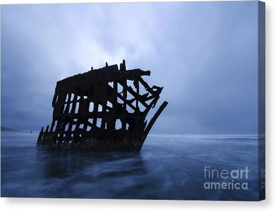 Peter Iredale Canvas Print - Peter Iredale Shipwreck Oregon 3 by Bob Christopher