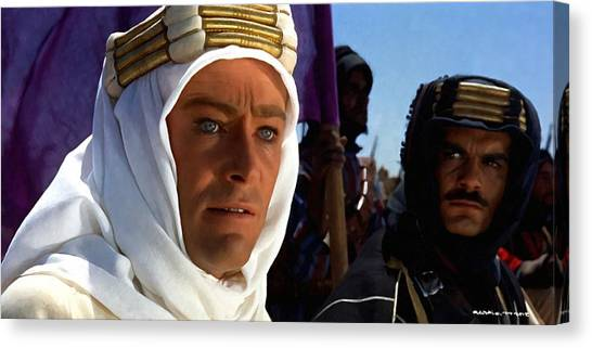 Peter Otoole And Omar Sharif In Lawrence Of Arabia Canvas Print