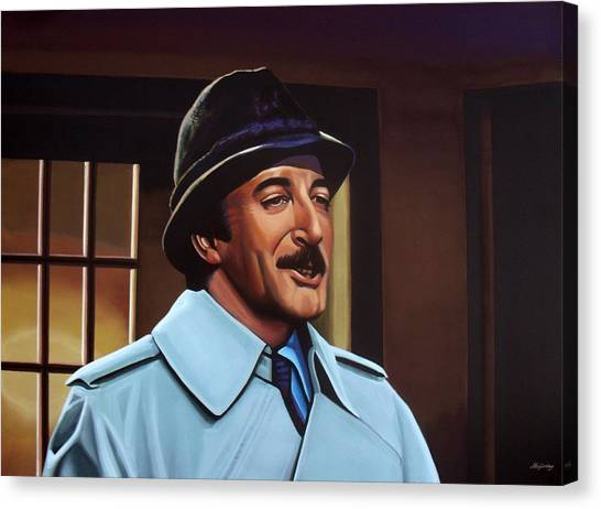 Rights Canvas Print - Peter Sellers As Inspector Clouseau  by Paul Meijering