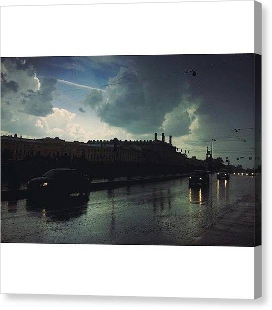 Rainclouds Canvas Print - #petersburg #fontanka #river by Irin Kirpicheva