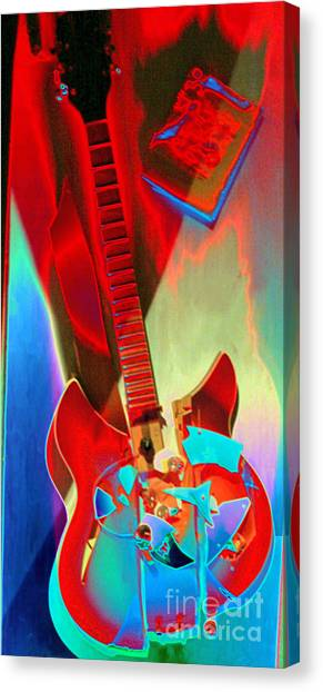Pete's Guitar Canvas Print