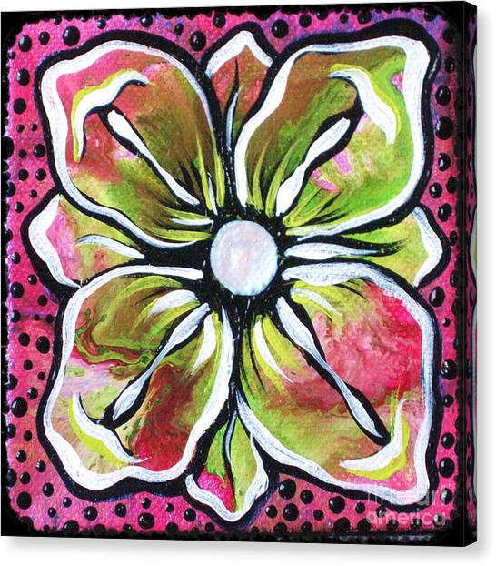 Limes Canvas Print - Petit Flower by Shadia Derbyshire