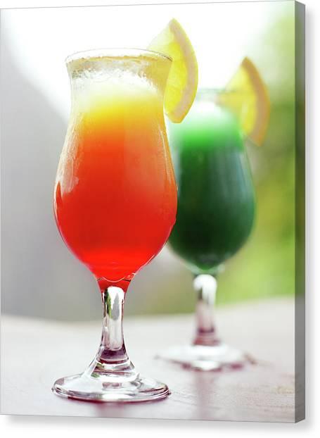 Tequila Sunrise Canvas Print - Petit Piton Mountain Is The Backdrop by Matthew Wakem