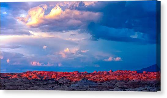 Petrified Dunes Sunset Canvas Print