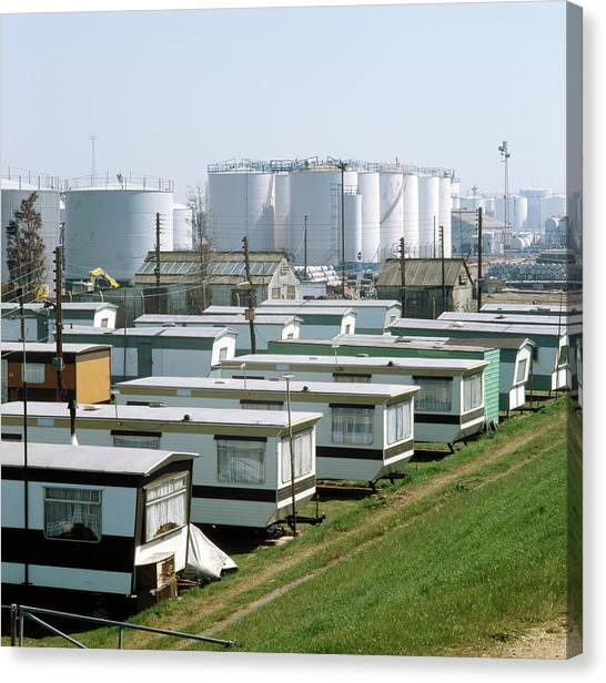 Caravan Canvas Print - Petrochemical Installation by Robert Brook/science Photo Library