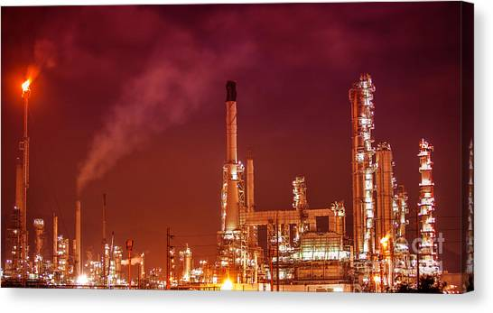 Petrochemical Oil Refinery Plant  Canvas Print