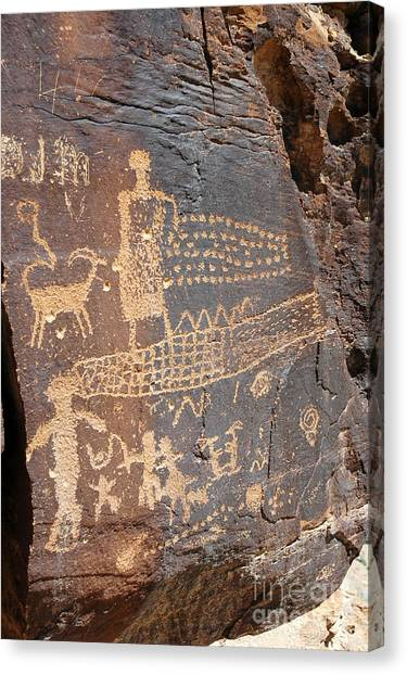 555p Petroglyph - Nine Mile Canyon Canvas Print