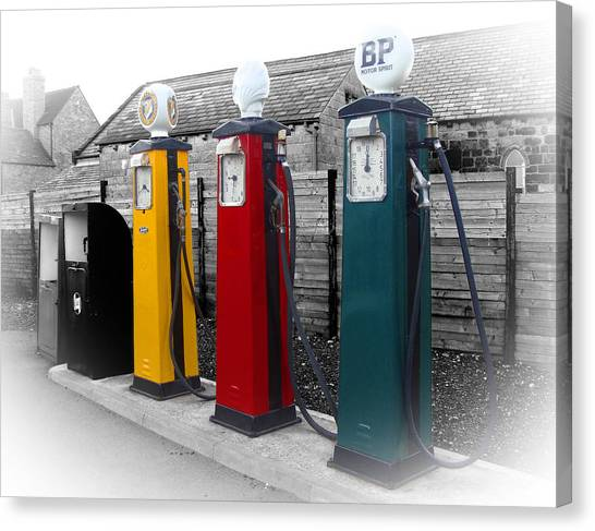 Petrol Station Canvas Print