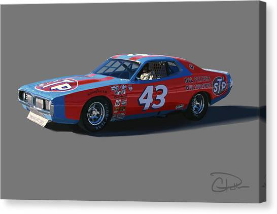 Stock Cars Canvas Print - Petty by Charley Pallos