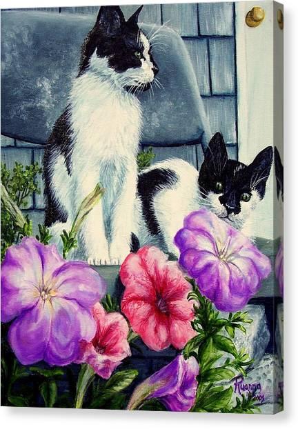 Petunia Kittens Canvas Print