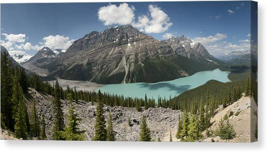 Peyto Panorama Canvas Print