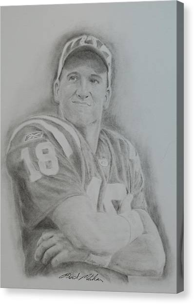 Peyton Manning Canvas Print by Brent  Mileham