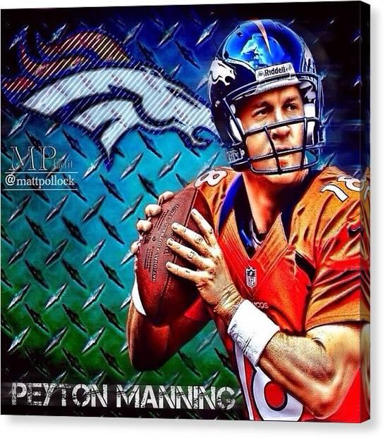 Quarterbacks Canvas Print - Peyton Manning by Matt Pollock