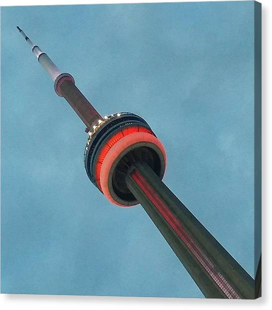 Toronto Skyline Canvas Print - #phallic #cntower #landmark #sunset by Mariana L