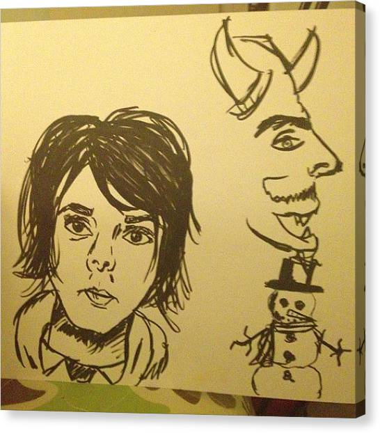 Satan Canvas Print - @phanisruiningmylife I Also Doodled by Kendall Traylor