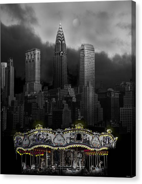 Phantom Carousel Canvas Print by Larry Butterworth