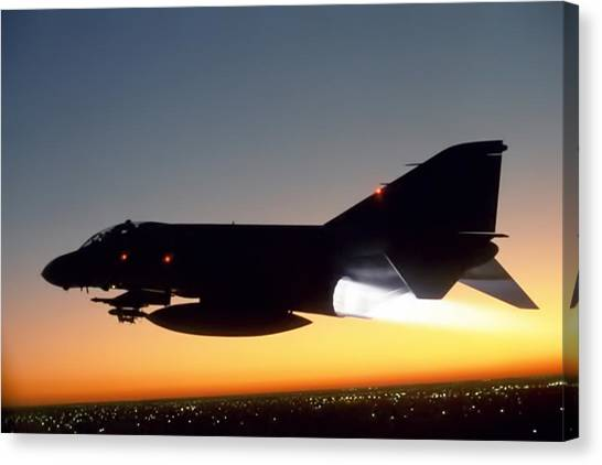 Sidewinders Canvas Print - Phantom Sunset by Peter Chilelli