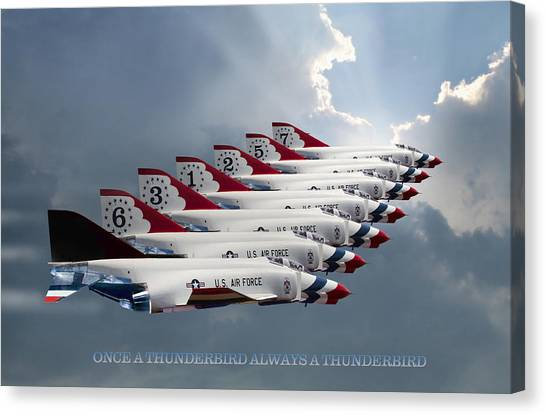 Sidewinders Canvas Print - Phantom Team Thunderbirds by Peter Chilelli
