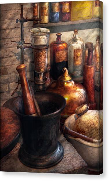 Pharmacy - Pestle - Pharmacology Canvas Print